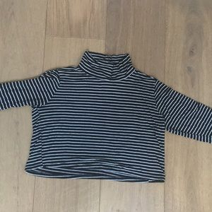 striped long sleeve cropped shirt!